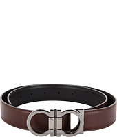 Salvatore Ferragamo - Double Gancio Buckle Adjustable/Reversible Belt (678648)