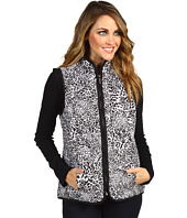 Jones New York - Zipper Front Mock Neck Diamond Quilted Vest