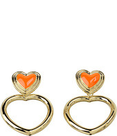 Betsey Johnson - Status Heart Door Knocker Earrings