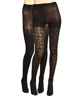 Betsey Johnson - 2 Pack Solid/ Ditzy Daisy Gold Lurex Tight