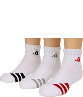 adidas Kids - Youth Striped 3-Pack Quarter (Youth/Junior)