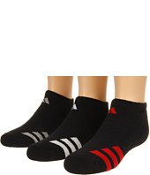 adidas Kids - Youth Striped 3-Pack No Show (Youth/Junior)
