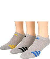 adidas Kids - Striped 3-Pack No Show (Toddler/Little Kid/Big Kid/Adult)