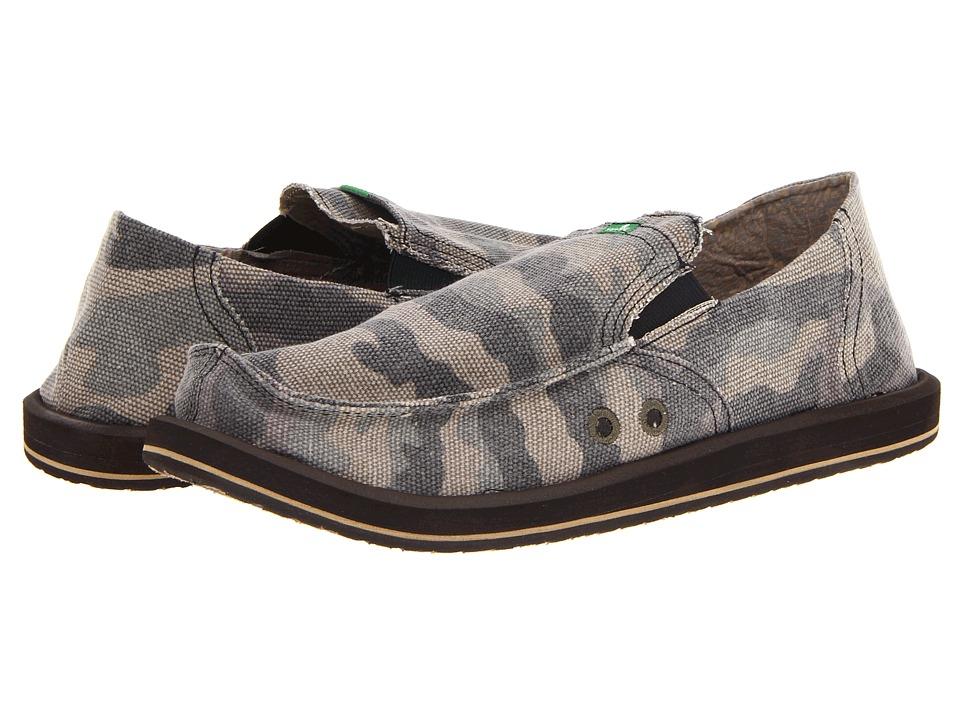 Sanuk Pick Pocket (Camo) Men's Slip on  Shoes