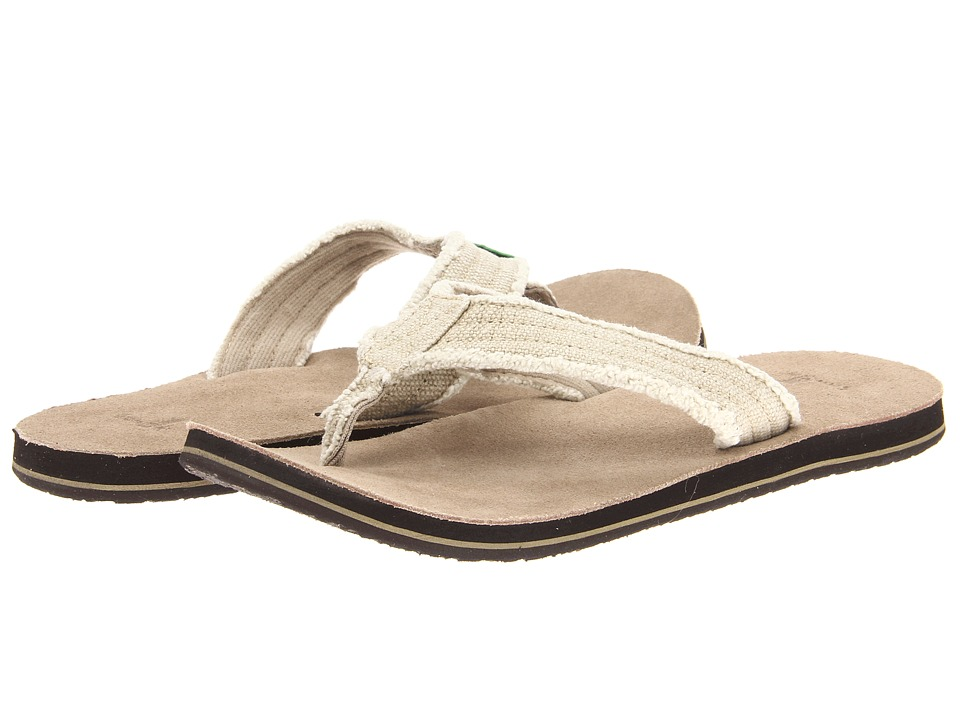 Sanuk Fraid Not Natural Mens Sandals