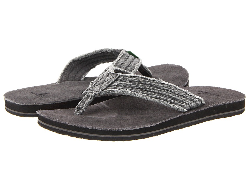 Sanuk Fraid Not Charcoal Mens Sandals