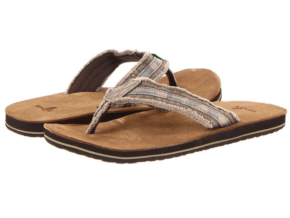 Sanuk Fraid So (Camo) Men's Toe Open Shoes