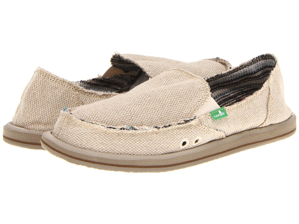 Sanuk - Donna Hemp (Natural) Women's Slip on  Shoes