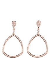Vince Camuto - Rose Gold and Crystal Door Knocker Earring
