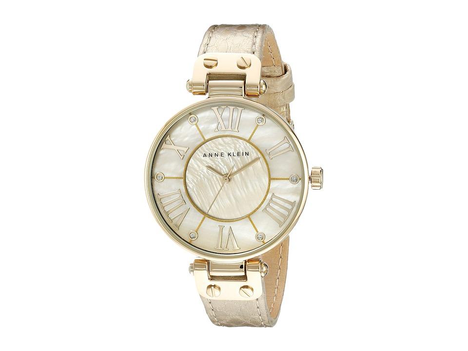 Anne Klein AK 1012GMGD Gold Analog Watches