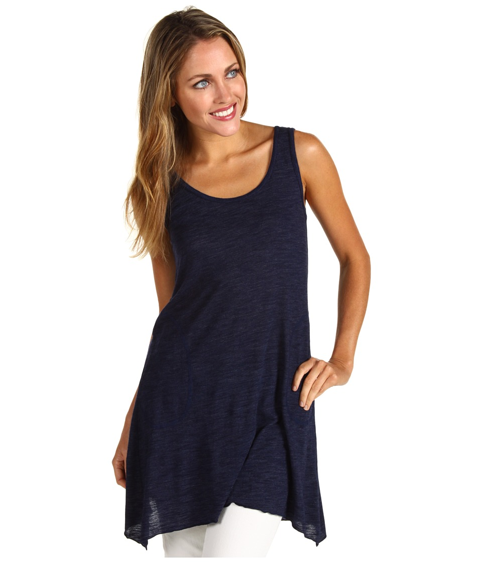 Allen Allen Scoop Neck Angled Tunic (Lapis) Women
