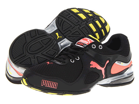 PUMA - Cell Riaze Wn's (Black/Fluo Peach/Fluo Yellow) - Footwear