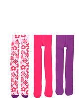 Jefferies Socks - Flurry Flower Tight/Seamless Organic Tight Three Pack (Infant/Toddler/Little Kids/Big Kids)