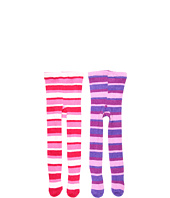 Jefferies Socks - Fuzzy Stripe Tight Two Pack (Toddler/Little Kid/Big Kid)
