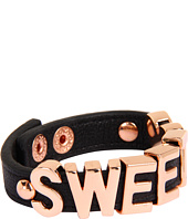 BCBGeneration - Black and Rose Gold Sweet Heart Smooth Affirmation Bracelet