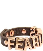 BCBGeneration - Gunmetal and Rose Gold Fearless Smooth Affirmaition Bracelet