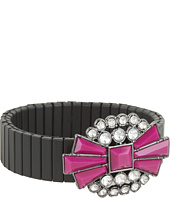BCBGeneration - Le Piaget Black and Fuschia Crystals Stretch Bracelet