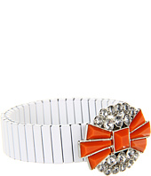 BCBGeneration - Rolling Stone White and Orange Crystal Stretch Bracelet