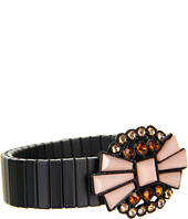 BCBGeneration - Rolling Stone Black and Crystal Stretch Bracelet