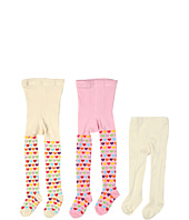 Jefferies Socks - Lovely Hearts Tight/Seamless Organic Tight Three Pack (Infant/Toddler/Little Kids/Big Kids)