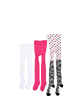 Jefferies Socks - Zebra Tight/Seamless Organic Tight Three Pack (Infant/Toddler/Little Kids/Big Kids)