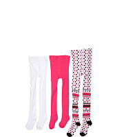 Jefferies Socks - Party Tight/Seamless Organic Tight Three Pack (Infant/Toddler/Little Kids/Big Kids)