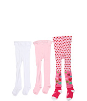 Jefferies Socks - Candy Heart Tight/Seamless Organic Tight Three Pack (Infant/Toddler/Little Kids)