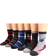 Jefferies Socks - Rockstar Triple Threat/Rugby Stripe Triple Threat Six Pack (Infant/Toddler)