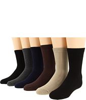 Jefferies Socks - Rib Crew Sock Six Pair Pack (Infant/Toddler/Youth/Adult)