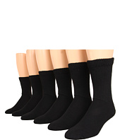Jefferies Socks - Non Binding Crew Six Pack (Adult)