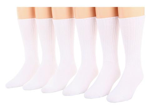 Jefferies Socks Cotton Casual Crew Six Pack (Adult)