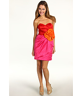 Badgley Mischka - Strapless Flower Dress