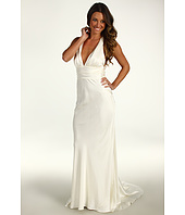 Nicole Miller - Double Face Satin Halter Gown