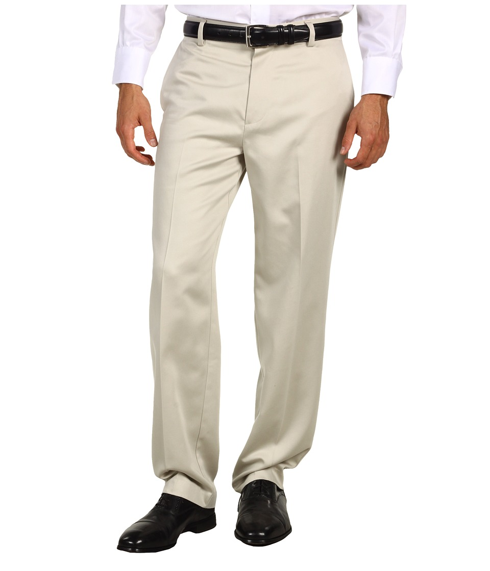 Dockers - Never-Irontm Essential Khaki D3 Classic Fit Flat Front Pant (Stone) Mens Casual Pants