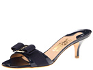 Salvatore Ferragamo Patent Leather Kitten Heel Sandal