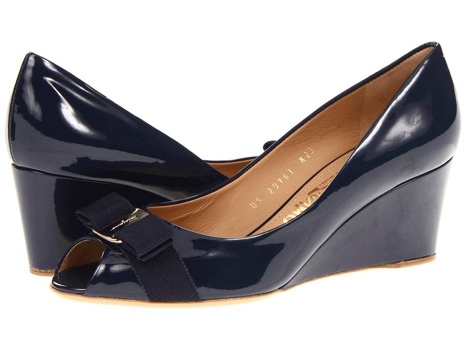 Salvatore Ferragamo - Sissi (Oxford Blue Patent) Women
