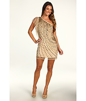 ABS Allen Schwartz - One Shoulder Beaded Short Dress
