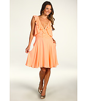 Badgley Mischka - Ruffle V-Neck Dress