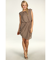 Jessica Simpson - Short Draped Sleeve Asymmetrical Hem Dress