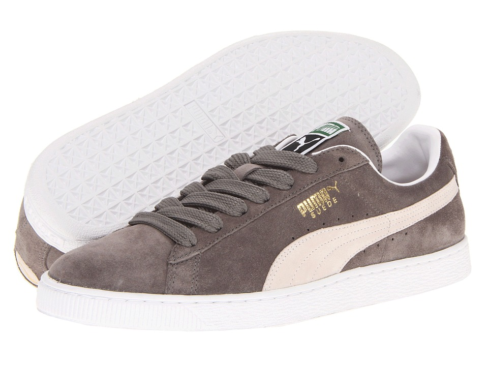 Puma Suede Classic (Steeple Gray/White) Shoes