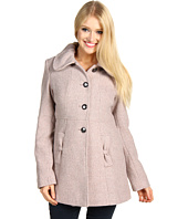 Jessica Simpson - Wool Tweed SB Button Front Babydoll Coat