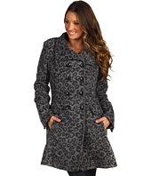 Jessica Simpson - Brushed Jacquard Wool Military Coat
