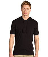 Vince - Double Layer Jersey Short Sleeve Hoodie Tee