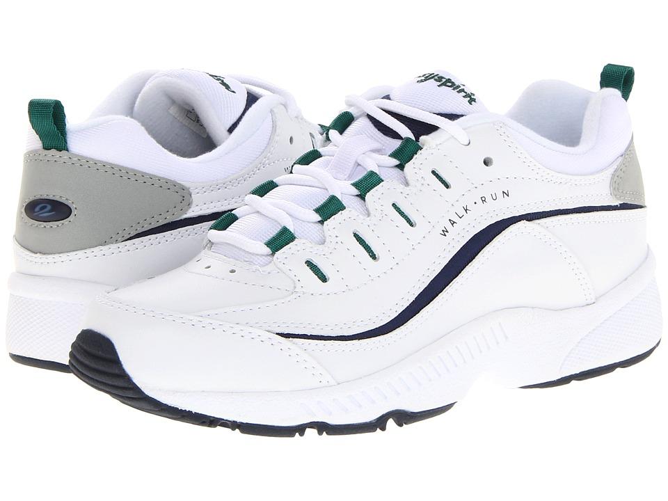 Easy Spirit Romy (White Multi Leather) Women's Walking Shoes