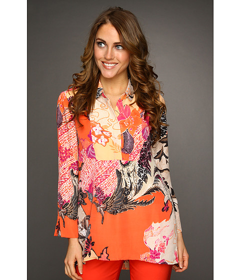 Nic+Zoe - Tropical Deco Tropics Top (Multi) - Apparel