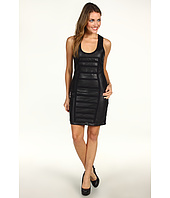 Nicole Miller - Powernet and Leather Combo Dress