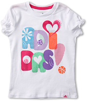 adidas Kids - Play Your Heart Out Tee (Toddler/Little Kids)