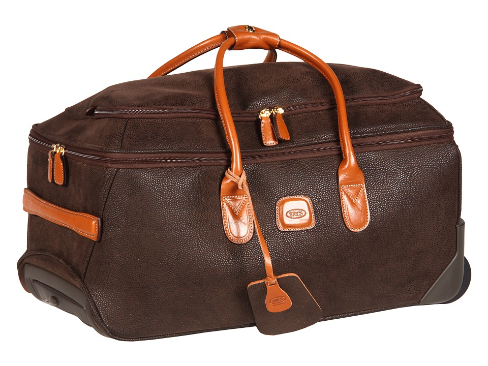 Brics Milano Life 21 Carry On Rolling Duffle Olive Duffel Bags