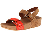 FitFlop - Via Bar Sandal (Tan/Flame) Sandal