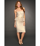 Robert Rodriguez - Metallic Strapless Lace Dress